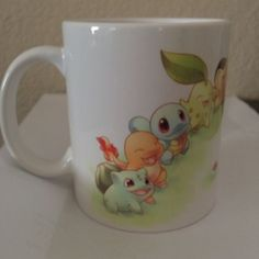 Pokemon Characters Mug Cup White Coffee Tea Cup