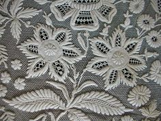 Lovely whitework embroidery on net… Types Of Embroidery, White Embroidery, Embroidery Applique, Embroidery Patterns, Stitch Witchery, Drawn Thread, Art Textile, Sewing Art, Heirloom Sewing