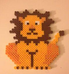 Perler bead lion