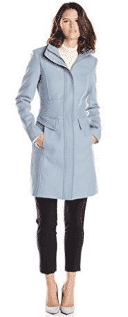 Kenneth Cole New York Women's Zip-Front Wool-Blend Coat with Pockets Wool Coats, Look Good Feel Good, Coats For Women, Wool Blend, Dresses For Work, Zip, York, Pockets, Clothes