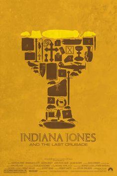 Posters minimalistas de Indiana Jones
