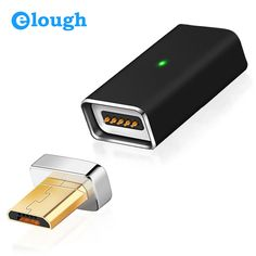 Elough A01 Micro USB To Magnetic Charger Cable Adapter For Android Mobile Phone Charge Automatic Adsorption Magnet Cable Adapter  Price: 4.84 USD