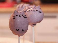 ▶ Pusheen the Cat Cake Pops - QUAKE N BAKE - YouTube