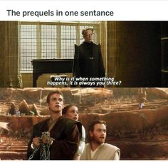Your daily dose of funny and Interesting Star Wars memes! Star Wars Jokes, Star Wars Facts, Star Wars Clone Wars, Star Trek, Luke Skywalker Jedi, Anakin And Padme, Prequel Memes, Love Stars, Funny Memes