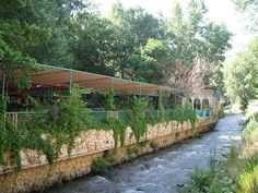 Cafes along the Berdawni River in Zahle