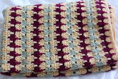 Larksfoot crochet baby blanket - what a pretty color combination! - inspiration only