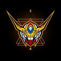 gundam head t shirt illustration. mecha head logo - Buy this stock vector and explore similar vectors at Adobe Stock Gundam Head, Gundam Art, Retro Vector, Vector Art, Vector Design, Logo Design, Robot Illustration, Esports Logo, Free Vector Graphics