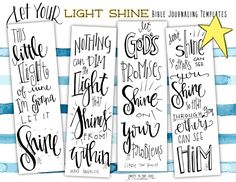 FREE Bible Journaling templates, Let Your Light Shine Bible Study Journal, Scripture Study, Bible Art, Art Journaling, Scripture Journal, Journal Quotes, Journal Prompts, Bible Prayers, Bible Scriptures