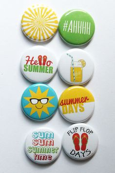 Summer 3 Flair by aflairforbuttons on Etsy, $6.00