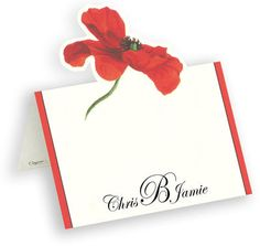 Poppy Die Cut Personalized Placecards