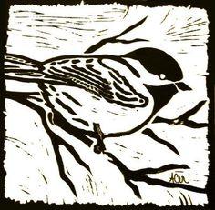 Bird Linoleum Block Print Fine Art Giclee Photographic Print at Artist Rising. Artist Rising is the premier destination for discovering original art, fine art and photography prints, and limited edition art by living artists. Linoleum Block Printing, Linoprint, Wood Engraving, Linocut Prints, Art Plastique, Woodblock Print, Bird Art, Oeuvre D'art, Printmaking