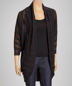 Take a look at this Black Dolman Open Cardigan by Casalee on #zulily today! $15 !!
