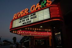 River Oaks Theatre - Marquee. | Yelp
