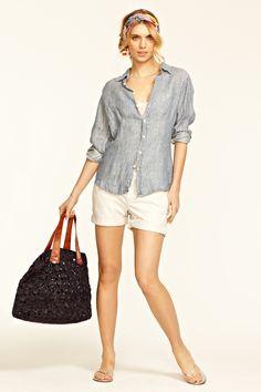 Calypso Marissa Linen Striped Shirt - $175