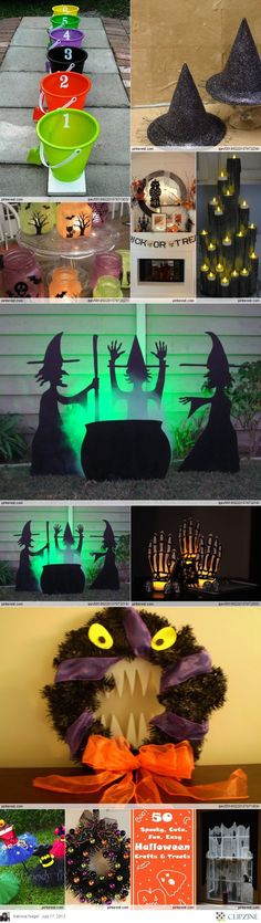 Fall / Halloween Ideas food- maybe could do some of these for/with the grandkids brujas halloween ideas Casa Halloween, Halloween Goodies, Halloween Birthday, Halloween Games, Halloween Projects, Diy Halloween Decorations, Holidays Halloween, Halloween Kids, Happy Halloween