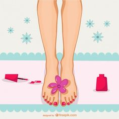 Pedicure Illustration Free Vector