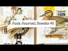 Junk Journal Snacks #2 - Bitesized Inspiration For Your Journal! - YouTube
