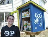 Inside the Perryville Police Department Outreach Program there are nightly dinners for youth that may not get a healthy meal at home. Outside, there's an opportunity for the same. Right before Christmas the Outreach set out a Little Free Pantry.