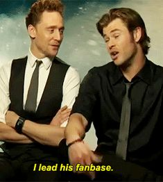gif. I love how tom just laughs at his comment, like that is so not true.
