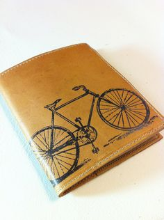 inblue @ Etsy - leather billfold wallet men with card slots custom for you bike