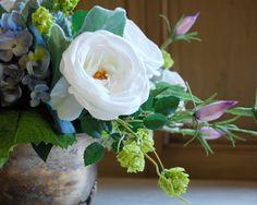 Silk Floral Arrangement Faux Flower Arrangement by EnvyAlley