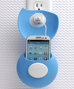 Blue Teleport Charging Station~ great for travel & can also be used on a table top by folding it