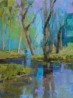 """"""" Delta Glade """" oil painting by Andy Braitman 48"""" x 36"""""""