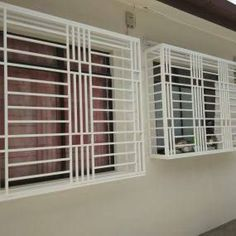 Resultado de imagem para windows styles in rectangle for hall of iron with security purpose simple Modern Window Design, Iron Window Grill, Window Grill Design Modern, Balcony Grill Design, Grill Door Design, Balcony Railing Design, Steel Gate Design, House Gate Design, Door Gate Design