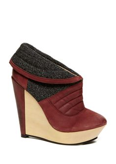 Wine colored shoes are a must