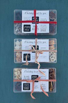 Boxes of holiday treats
