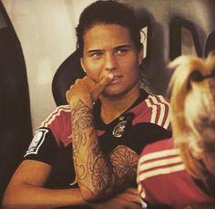 Maro Dzsenifer Marozsan GERWNT Germany Soccer Player Tattoo Style