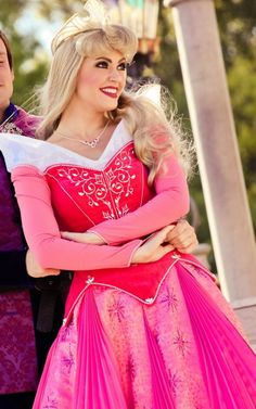 Sleeping Beauty  - A decent Princess Aurora for once! I find that she is the most difficult princess to get right at the Disney parks.  sc 1 st  Pinterest & Perfect neckline on this incredibly accurate costume and character ...