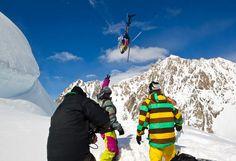 Heli snowboard!