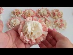 LUSCIOUS Shabby Chic Flowers! Very Soft, Fluffy, and Dimensional.