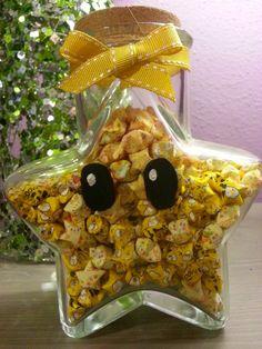 Found on Etsy, Seller: Rainbowroadalley  Lucky Nintendo Luma Yellow Origami Star Jar