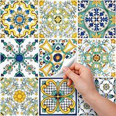 54 adesivi per piastrelle formato 10x10 cm - PS00049 Adesivi in pvc ...
