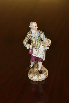 Antique Meissen Porcelain figurine of a butler