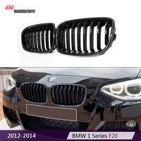 replacement F20 carbon fiber black racing grill in M135i design for BMW 1 Series F21 2012-2014 1180 120i 125i car styling part