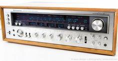Vintage 1970's KENWOOD ELEVEN II Monster Stereo Receiver & Wood Cabinet SERVICED #KENWOOD