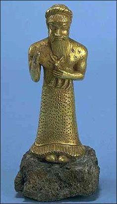 Elamite Worshipper (Golden);  Susa, Iran; 12th century BCE
