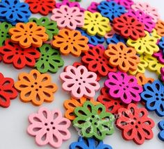 100x New Flower Wood Buttons 16mm Sewing Crafts Tools Mix Color NK015 | eBay US$6.69