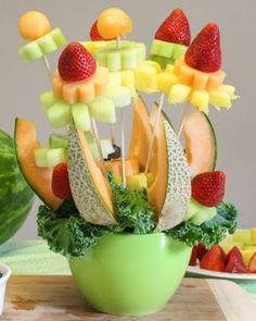 brocheta frutas Más