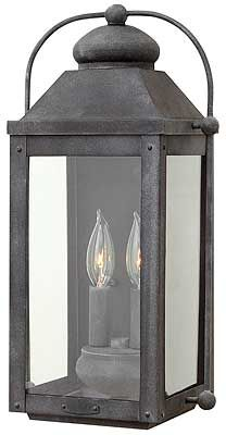 Buy the Hinkley Lighting Aged Zinc Direct. Shop for the Hinkley Lighting Aged Zinc Anchorage 4 Light Tall Heritage Outdoor Wall Sconce with Clear Glass Panels and save. Outdoor Candles, Outdoor Wall Lantern, Outdoor Wall Sconce, Outdoor Wall Lighting, Exterior Lighting, Wall Sconce Lighting, Outdoor Walls, Home Lighting, Lighting Ideas