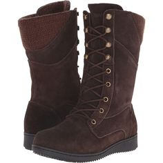 Northside Cece (Dark Brown) Women's Boots ($36) ❤ liked on Polyvore featuring shoes, boots, brown, brown shoes, lace up shoes, laced boots, sport boots and laced up boots