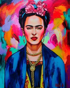 Mexican Painter Frida Kahlo Canvas/Posters/Oil Painting Pictures Printed for Wall Art Decor/ Home Li Frida Kahlo Artwork, Frida Kahlo Portraits, Frida Art, Oil Painting Pictures, Pictures To Paint, Print Pictures, Portraits Pop Art, Portrait Art, Canvas Poster
