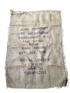 4 Burlap Coffee Jute Sacs, Perfect for Craft or Gardening Projects! 25% Off Discount Only At WitiDirect's Booth