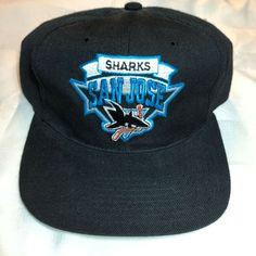 c49c168a9b4 San Jose Sharks Vintage Snapback Hat Black Green bill NHL Hockey  fashion   clothing