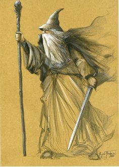Gandalf le Gris, d'après Angelo Montanini