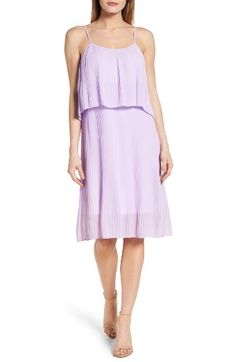 Free shipping and returns on Felicity & Coco Pleated Midi Slipdress (Nordstrom Exclusive) (Regular & Petite) at Nordstrom.com. Finely pleated georgette and popover styling at the bodice combine for a graceful, fluttery slipdress washed in a pretty lilac hue.