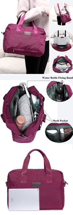 US$19.89 Nylon Waterproof Lightweight Travel Storage Bag Clothes Bag Wash Sports Cosmetic Bags Luggage Bags